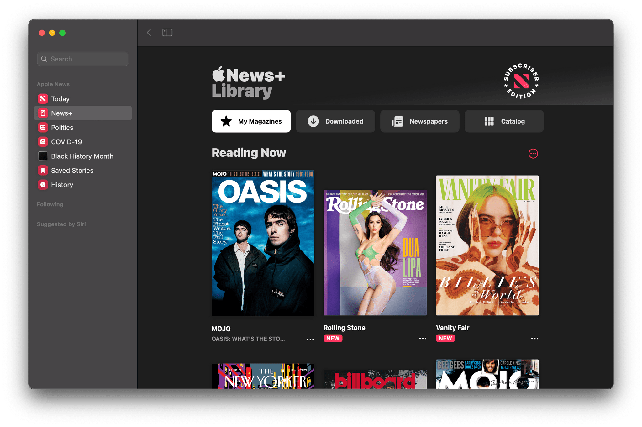 The News+ tab has been redesigned.