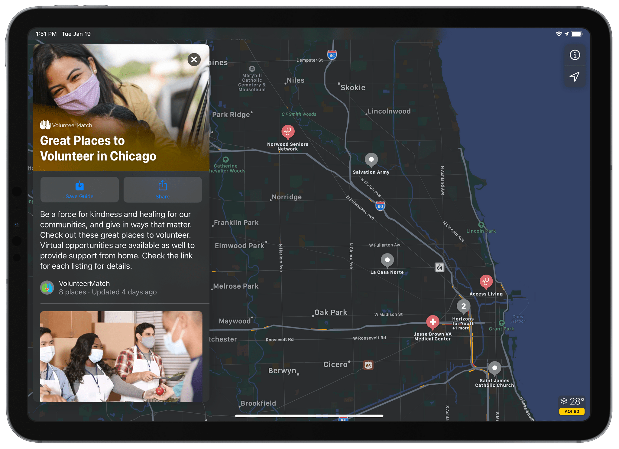 Apple Partners with VolunteerMatch to Feature Local Volunteer Opportunities in Apple Maps